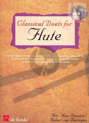 Classical Duets for Flute (Dezaire-Beringen Bk-Cd) (A Journey through the History of Classical Music)