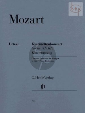 Konzert A-dur KV 622 for Clarinet in A and Piano