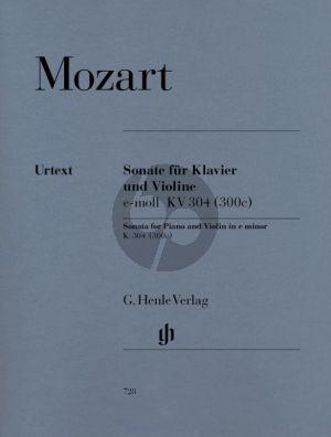 Mozart Sonate No.21 e-moll KV 304 (300c) Violine und Klavier (Wolf-Dieter Seiffert) (Henle-Urtext)