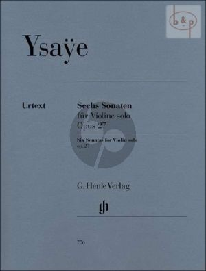 6 Sonaten Op.27 Violine solo