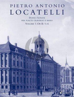 Locatelli 12 Sonatas Op. 2 Vol. 1 No. 1 - 6 Flute and Bc (edited by Fulvia Marabito)