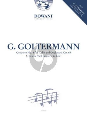 Goltermann Concerto No.4 Op.65 G-Major Violoncello-Orch. (piano red.) (Bk-Cd) (Dowani 3 Tempi Play-Along)