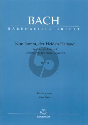 Bach J.S. Kantate BWV 62 Nun komm, der Heiden Heiland Vocal Score (Cantata for the First Sunday of Advent) (German)