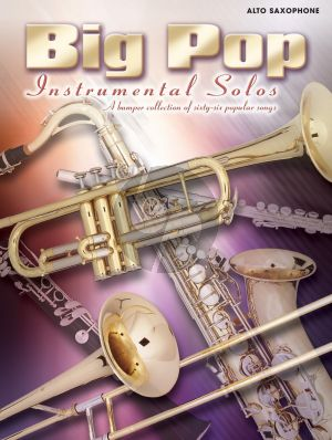 Big Pop Instrumental Solos for Alto Sax