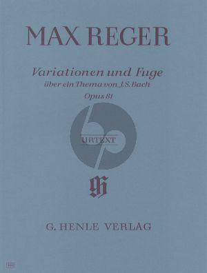 Reger Variationen & Fuge uber ein thema von Bach Op.81 (Voss) (Henle-Urtext)