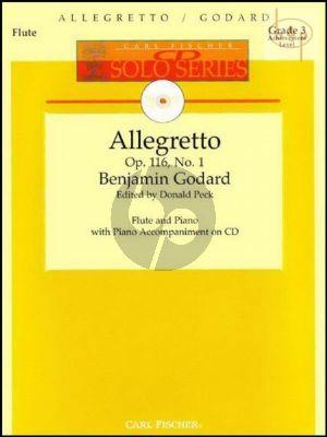 Allegretto Op.116 No.1 (Flute-Piano) (Bk-Cd)
