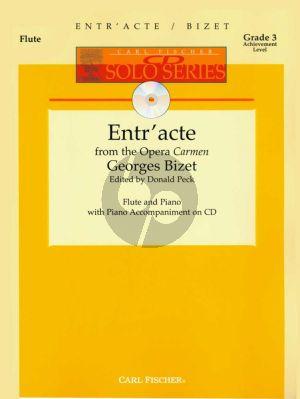 Bizet Entre'Acte (from Carmen) Flute-Piano (Bk-Cd) (edited by Donald Peck) (grade 3)