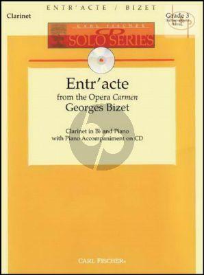 Entre'acte (from Carmen) (Clarinet-Piano) (Bk-Cd)