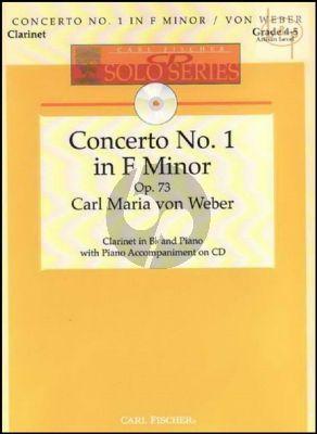 Concerto No.1 f-minor Op.73 (Clarinet-Piano) (Bk-Cd) (