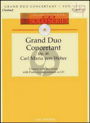 Grand Duo Concertant Op.48 Clarinet-Piano (Bk-Cd) (edited by Denise Schmidt)