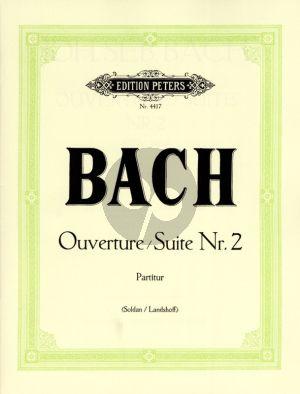 Baqch Ouverture - Suite No. 2 h-moll BWV 1067 Flöte-Streicher-Bc (Partitur) (Kurt Soldan)