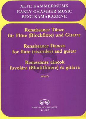 Renaissance Dances for Recorder [Flute] and Guitar (Daniel Benkö)