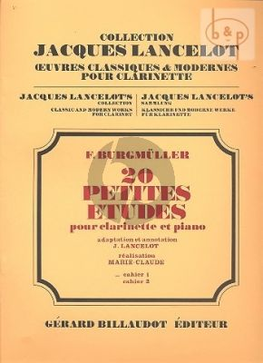 20 Petites Etudes Vol. 1 Clarinette et Piano