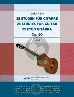 Carcassi 25 Studies Op.60 for Guitar (Edited by Zoltan Tokos)