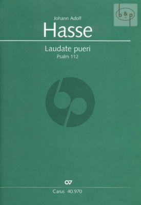 Laudate Pueri (Psalm 112) (SSA soli-SATB- 2 Fl.- 2 Oboen- 2 Vi.-Va.-Bassi)