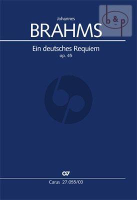 Ein Deutsches Requiem Op. 45 SB soli-SATB-Orchester