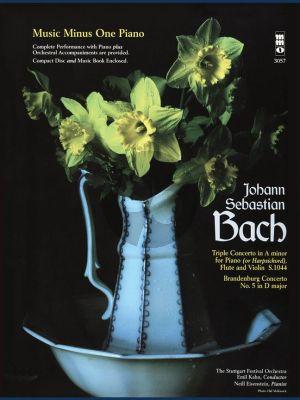 Bach Triple Concerto a-minor with Brandenburg Concerto No.5 D-Major (1st Movement) (Piano-Flute-Violin and Orchestra) (Bk-Cd) (MMO Minus One Piano)