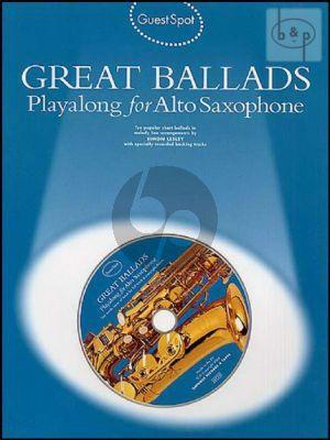 Guest Spot Great Ballads Playalong (Alto Sax.)