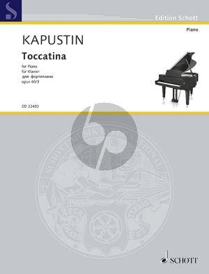 Kapustin Toccatina Op.40 No.3 Piano solo