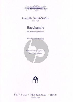 Saint=Saens Bacchanale aus Samson & Dalila Orgel 4 Handig (Hans Uwe Hielscher)