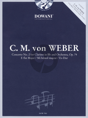 Weber Concerto No.2 E-flat major Op.74 Clarinet (Bk-Cd) (Dowani)