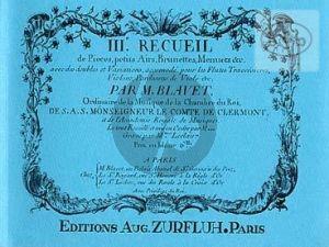 Recueil de Pieces Vol. 3 2 Flutes