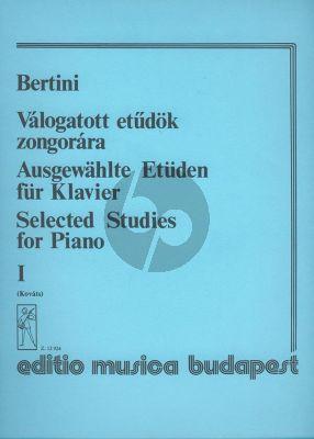 Bertini Selected Studies Vol.1 for Piano (Gábor Kováts)