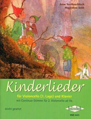 Kinderlieder Violoncello-Klavier (für Violoncello (1. Lage) und Klavier)