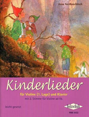 Kinderlieder Violine und Klavier (with 2nd part ad lib.) (1st.Pos.) (easy level)