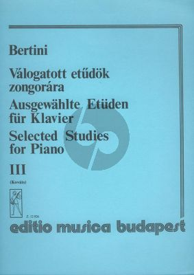 Bertini Selected Studies Vol.3 Piano (Gábor Kováts)