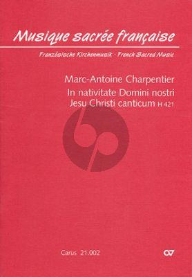 In Nativitate Domini Nostri Jesu Christi Canticum H.421 (SSA[Soli]-SSA[Chor]-Bc) (Partitur)