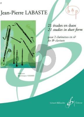 21 Etudes en Duo 2 Clarinets in Bb