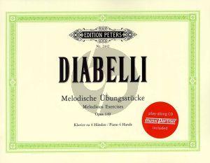Diabelli Melodische Ubungstucke Opus 149 Klavier 4 Hd. (Bk-Cd)
