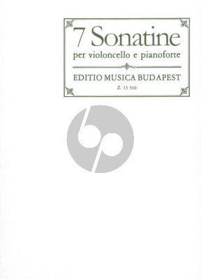 Album 7 Sonatinas for Cello and Piano (Transcribed and edited by Mariassy Istvan, Pejtsik Arpad)