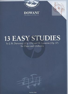 13 Easy Studies from Duvernoy Op.176 and Lemoine Op.37 (Piano with Orch./ 2 Piano's)