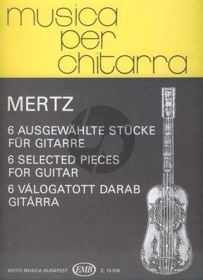 Mertz 6 Selected Pieces for Guitar (Szendrey-Karper)