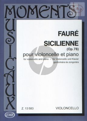 Sicilienne Opus 78 Violoncello and Piano