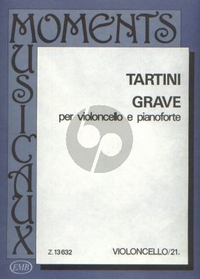 Tartini Grave Violoncello and Piano (edited by Arpad Pejtsik) (transcr. by Friedrich Grützmacher)