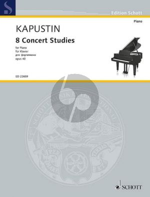 Kapustin 8 Concert Studies Op.40 Piano solo