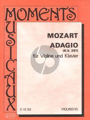 Mozart Adagio E-dur KV 261 Violine und Klavier (Orban-Pallagi)