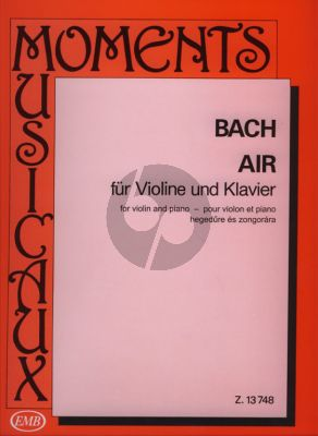Bach Air (from Suite No.3 D-major BWV 1068) Violin-Piano (arr. György Orbán)