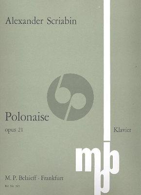 Scriabin Polonaise b-moll Op. 21 Klavier (1897)