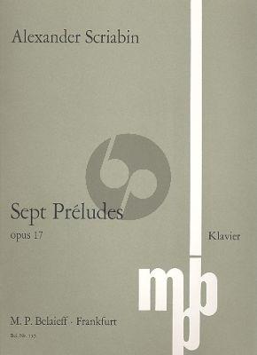 Scriabin 7 Preludes Op. 17 Klavier (1896)