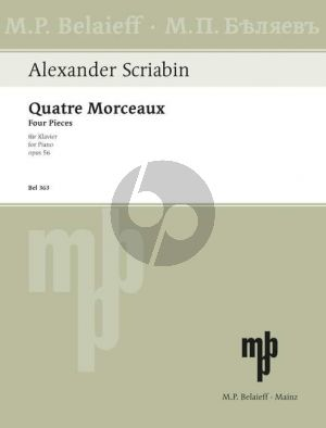 Scriabin 4 Morceaux Op. 56 Klavier