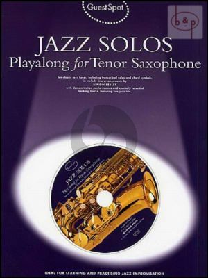 Guest Spot Jazz Solos Playalong Tenor Sax