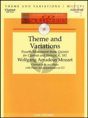 Theme and Variations (from Quintet KV 581 Clarinet-Strings) (Clarinet-Piano)