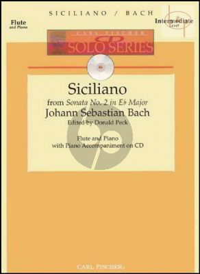 Siciliano (from Sonata No.2 BWV 1031) (Flute-Piano) (Bk-Cd)