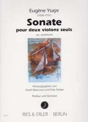 Ysaye Sonate Op.Posthume 2 Violons