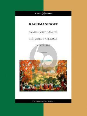 Rachmaninoff Symphonic Dances (0p.45)-5 Etudes Tableaux & Vocalise (Full Score)