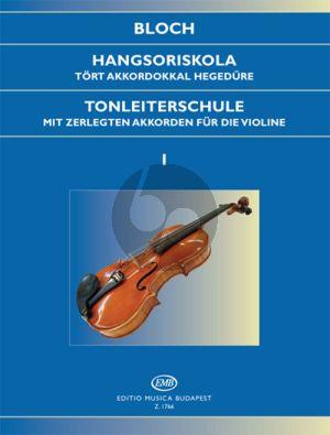 Bloch Scale Studies Op.5 Vol.1 Violin (Tonleiterschule Violine)